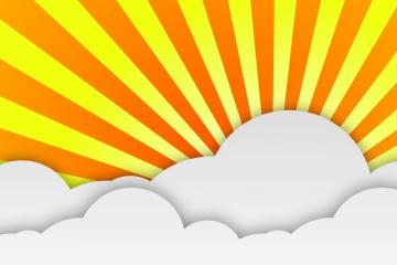gele animaite achtergrond met wolk