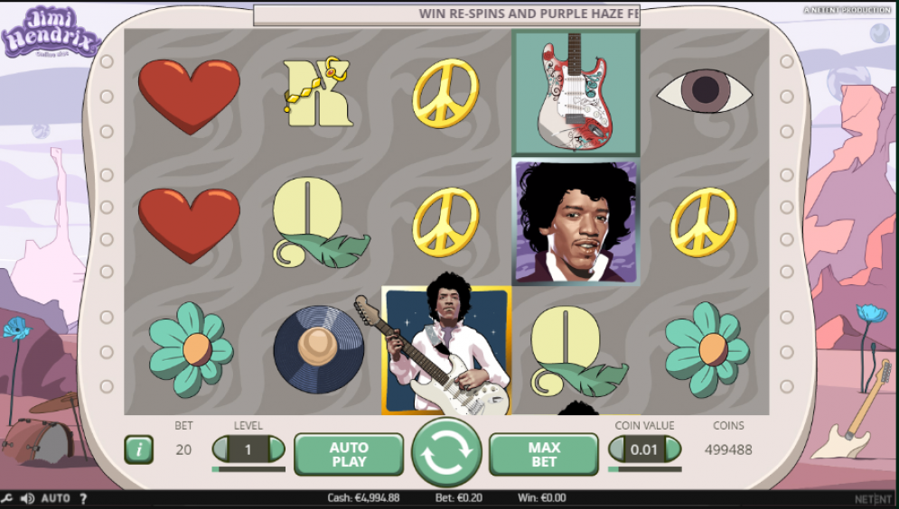 Jimmy Hendrix videoslot