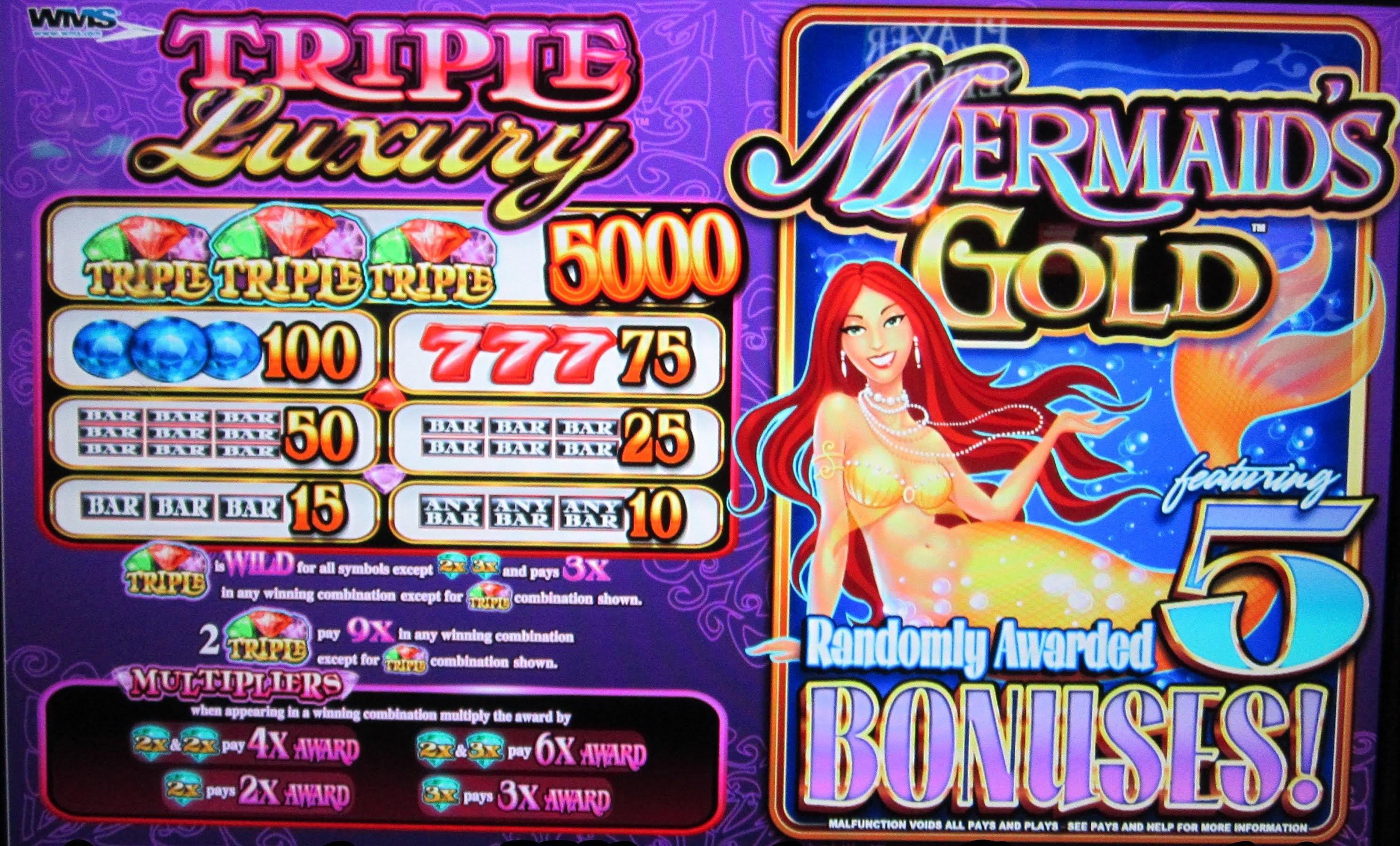 bonus features mermaids gold gokkast