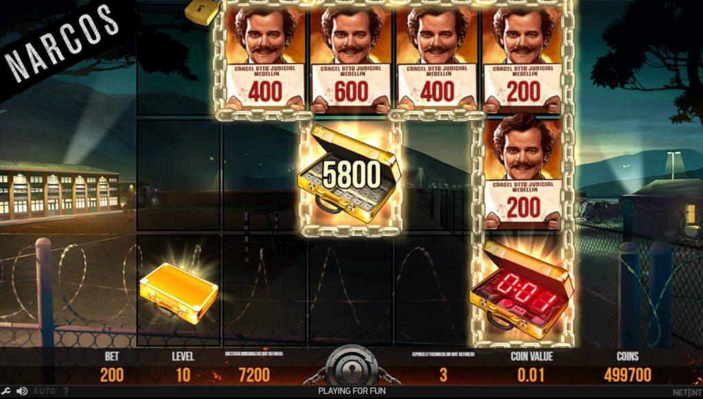 Narcos videoslot bonus spel