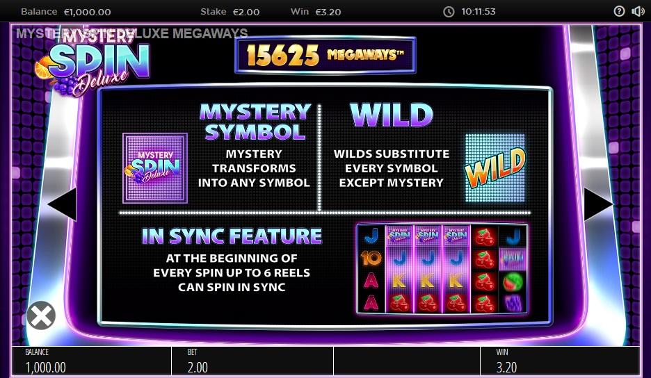 Mystery Spin DeLuxe Megaways Videoslot prijzentabel 3
