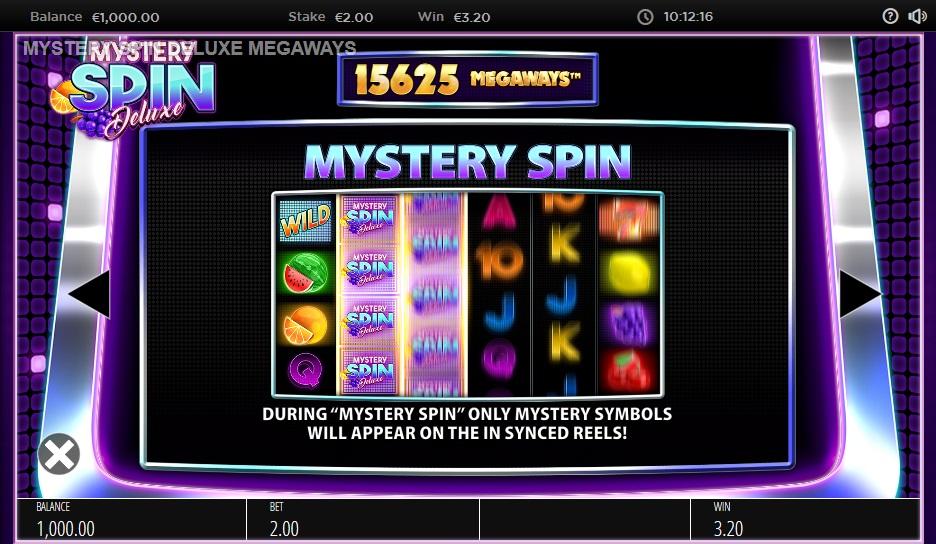 Mystery Spin DeLuxe Megaways Videoslot prijzentabel 4