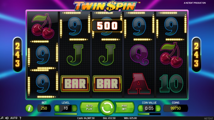 twin spin videoslot maximale inzet