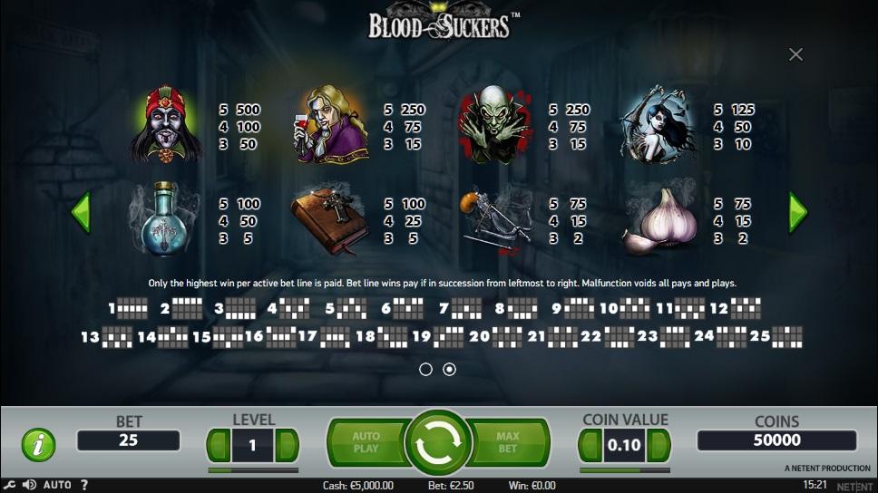bloodsuckers videoslot symbolen pagina 2