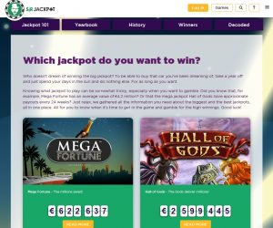 Sir Jackpot casino jackpots pagina
