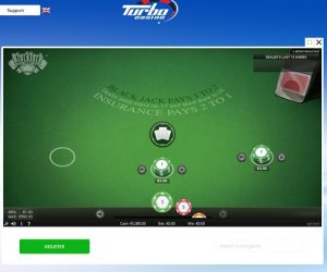 Turbo casino online blackjack screenshot